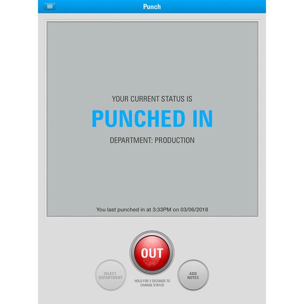uAttend iOS App Clocked In