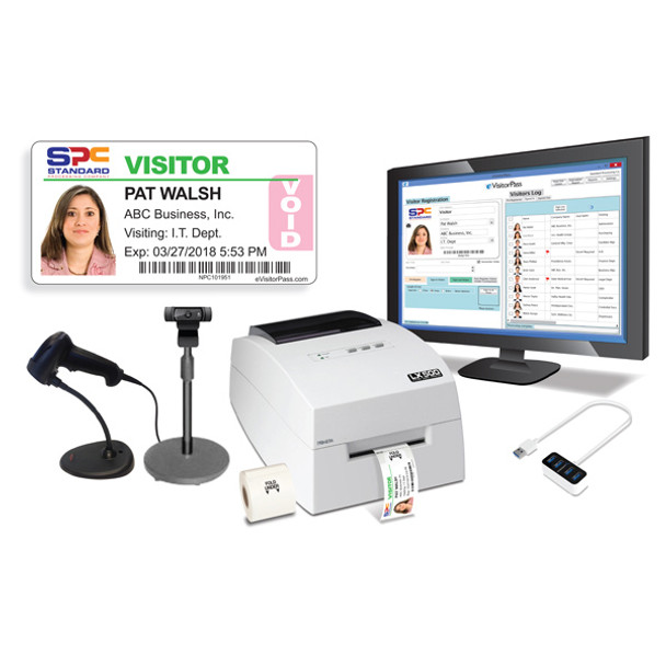 eVisitorPass Turbo-Color Package with Primera Printer