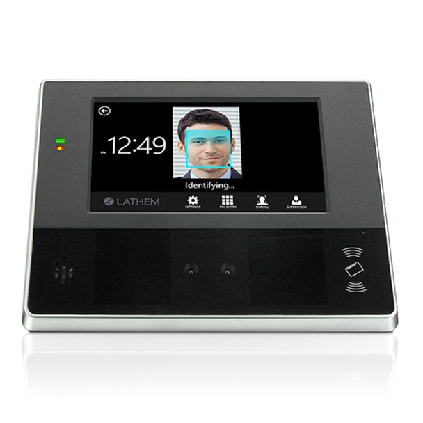 Lathem CT74 Biometric Facial Recognition & Badge Time Clock For Payclock Online