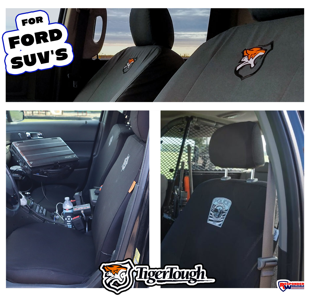 Tiger Tough, Tactical Seat Covers - FORD (SUV's)