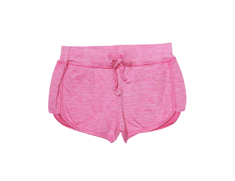 HOT PINK BURNOUT TRACK SHORTS