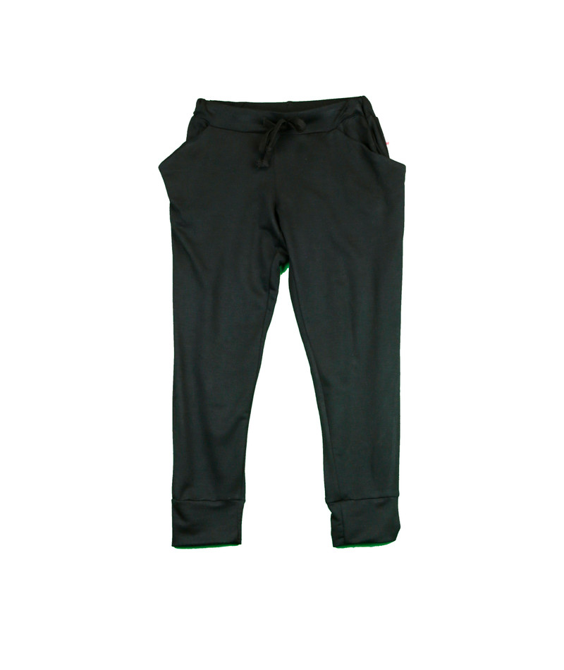 BLACK SLOUCHING PANTS
