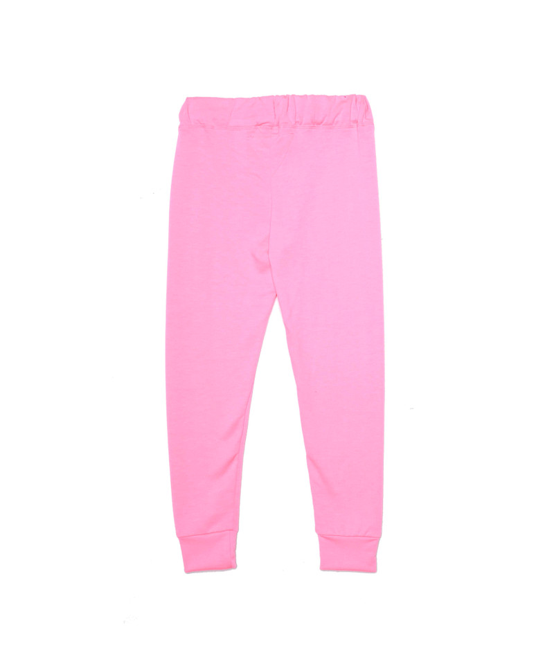 NEON PINK CUFFED SWEANT PANTS WITH BACK POCKET -  BACK VIEW