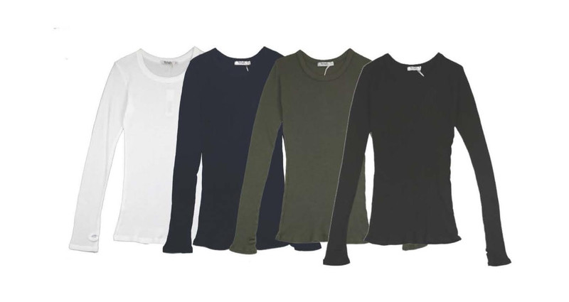 WOMEN LONG SLEEVE CREW THERMAL WITH THUMB HOLE
