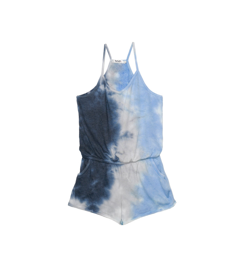 NGB TIE DYE CAMI ROMPER WITH POCKETS