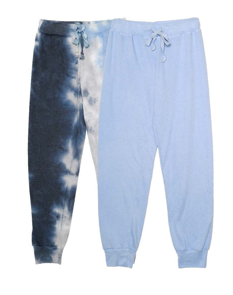 NGB TIE DYE, B BLUE SWEAT PANTS WITH BACK POCKET