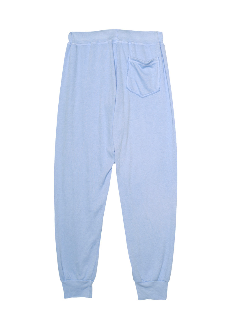 B BLUE SWEAT PANTS WITH BACK POCKET - BACK VIEW