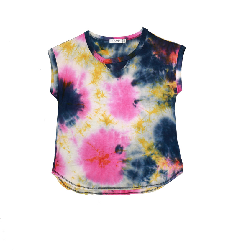 NPY TIE DYE MUSCLE TOP WITH FRONT KEY HOLE