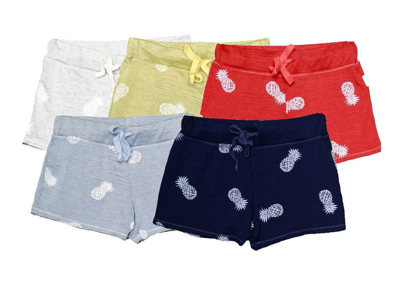 WHITE, LT YELLOW, NAVY,  CBLUE, CORAL RAW SHORT WITH BACK POCKET