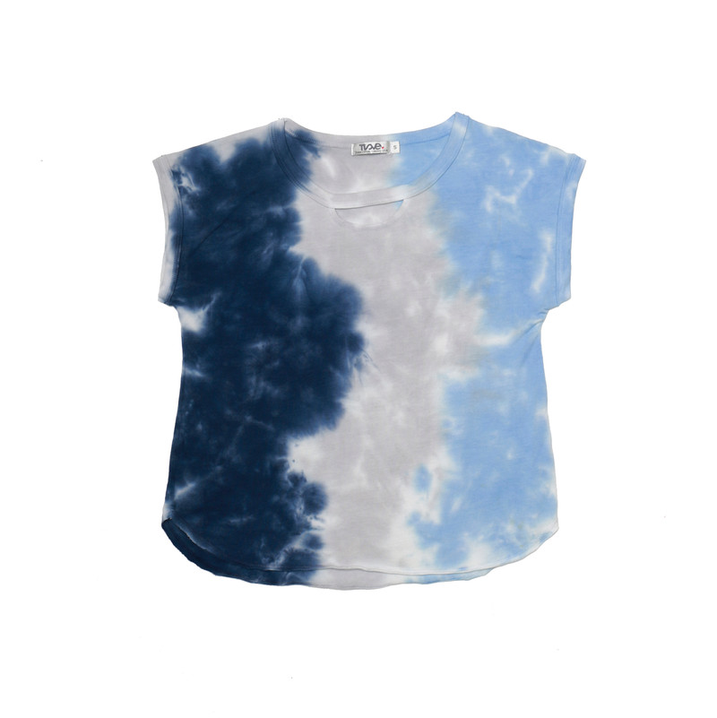 NGB MUSCLE TIE DYE TOP WITH FRONT CUT OUT
