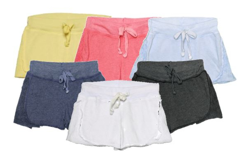LT YELLOW, CORAL, CBLUE, NAVY, WHITE, BLACK SHORT WITH REVERSE CONTRAST
