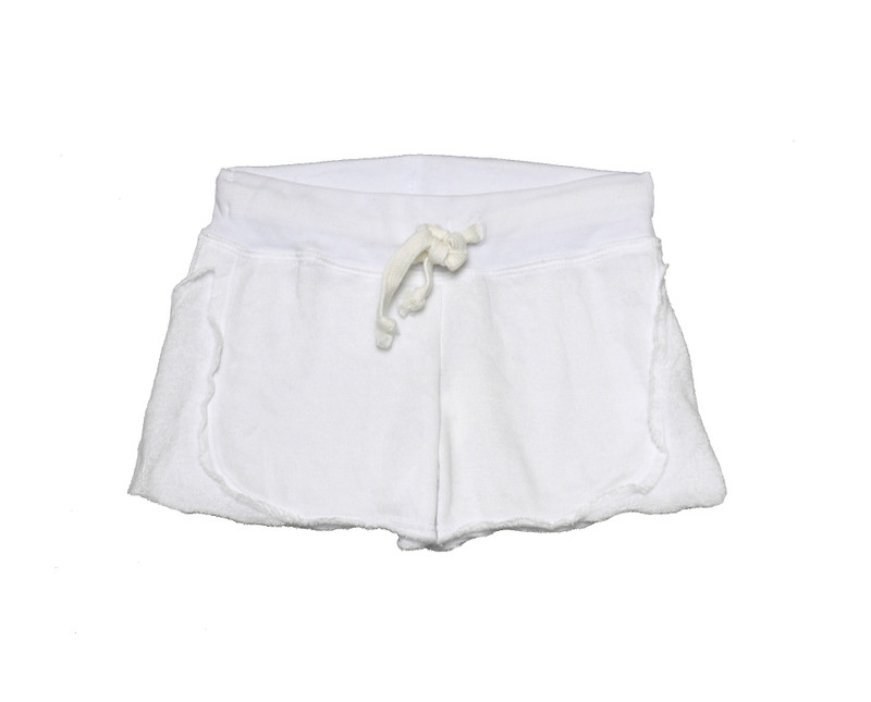 WHITE SHORTS WITH REVERSE CONTRAST