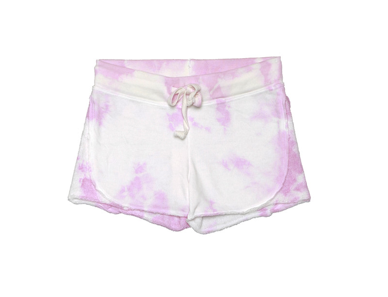 PINK TIE DYE SHORT WITH REVERSE CONTRAST