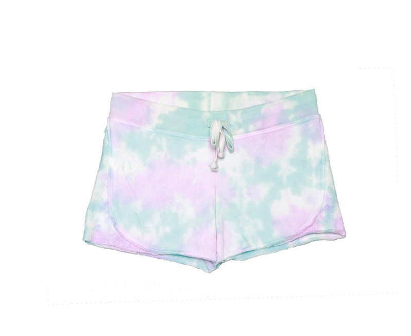 PNB TIE DYE SHORT WITH REVERSE CONTRAST
