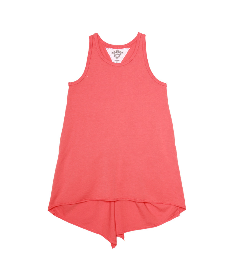 CORAL KNOTTED BACK TANK TOP