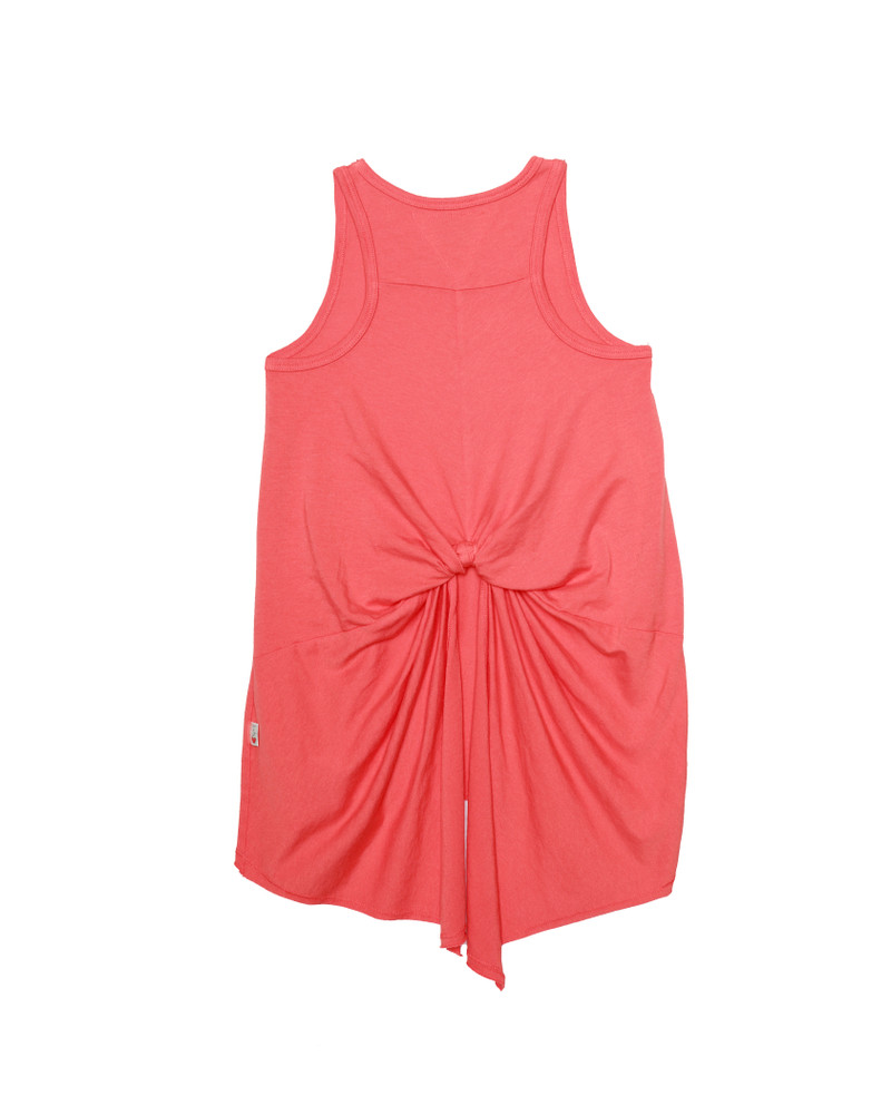 CORAL KNOTTED BACK TANK TOP BACK VIEW