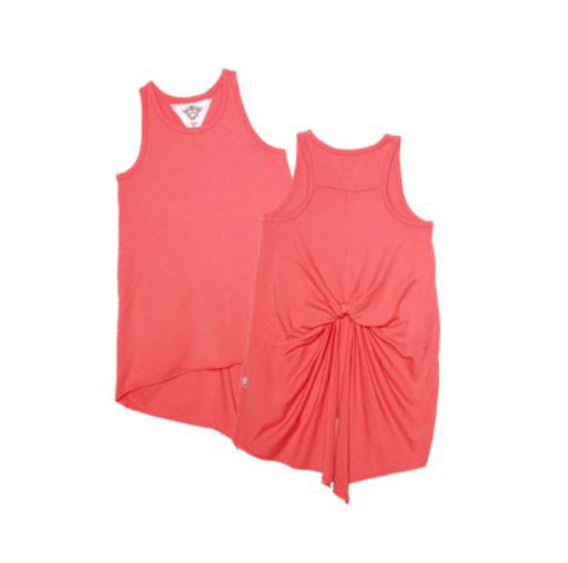 GIRLS JERSEY MODAL KNOTTED BACK SWING TANK