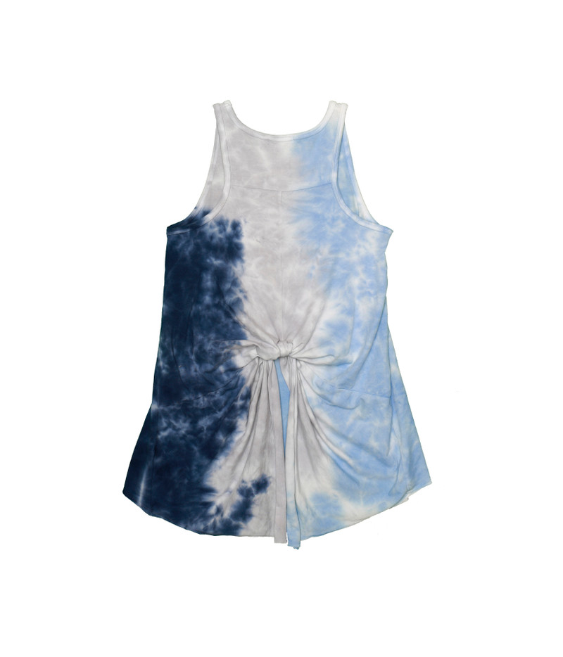 NGB TIE DYE KOTTED BACK TANK BACK VIEW