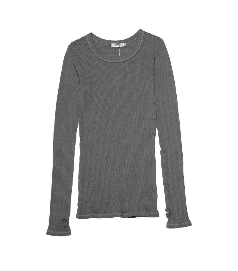 M GREY LONG SLEEVE CREW THERMAL WITH THUMB HOLES