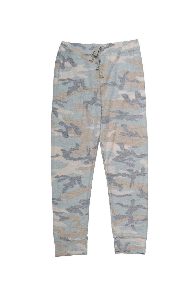 REVERSED CAMO NBS CUFFED SWEAT PANTS WITH BACK POCKET