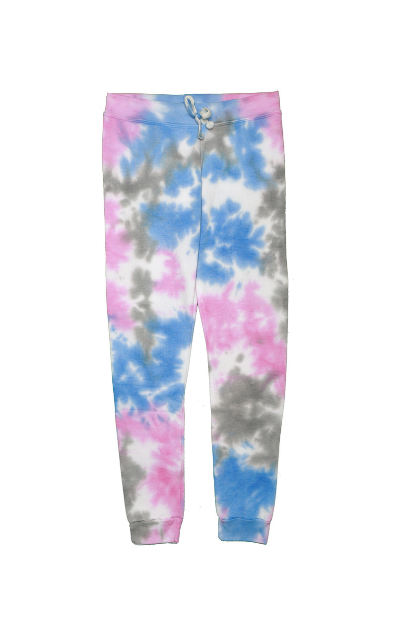 BPG TIE DYE CUFFED LOOP TERRY SWEATPANTS WITH BACK POCKET