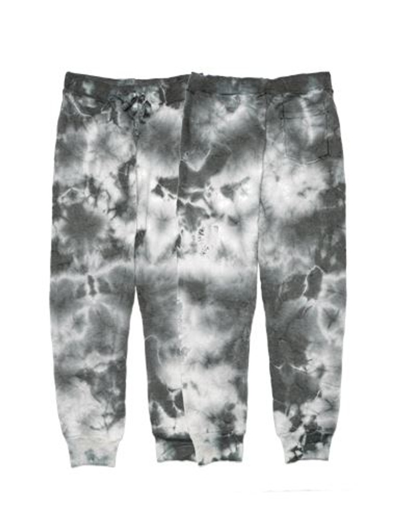 CG TIE DYE SWEATPANTS WITH BACK POCKET FRONT AND BACK VIEW