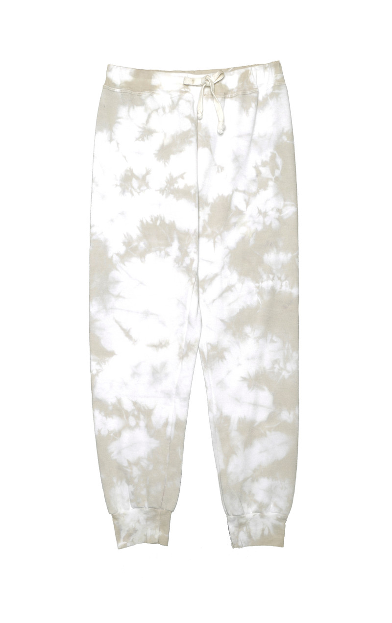 NATURAL TIE DYE SWEATPANTS WITH BACK POCKET
