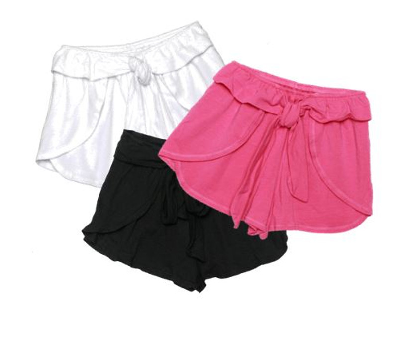 GIRLS  FRONT TIE SHORTS
