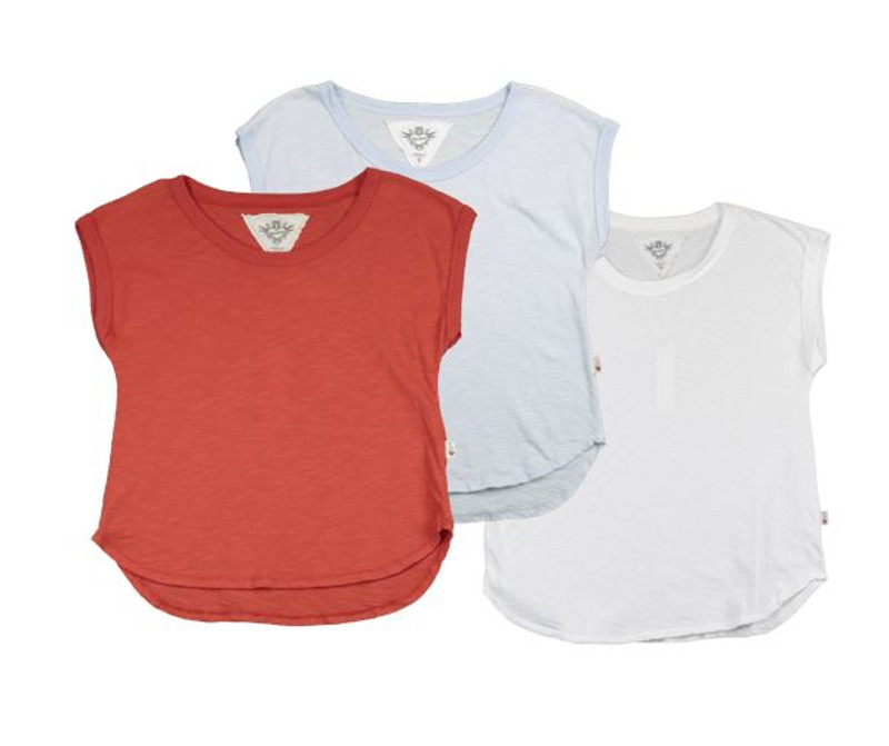 SUMMER RED CHAMBRAY WHITE MUSCLE TOP