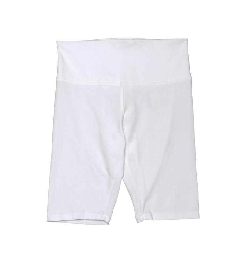 WHITE BIKE SHORTS