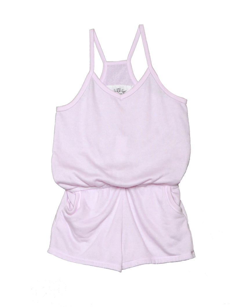 BABY PINK CAMI ROMPER WITH POCKETS