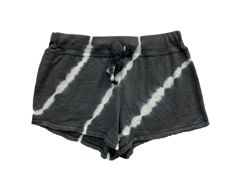 DIAGONAL TIE DYE FRENCH TERRY SHORT WITH  BACK POCKET