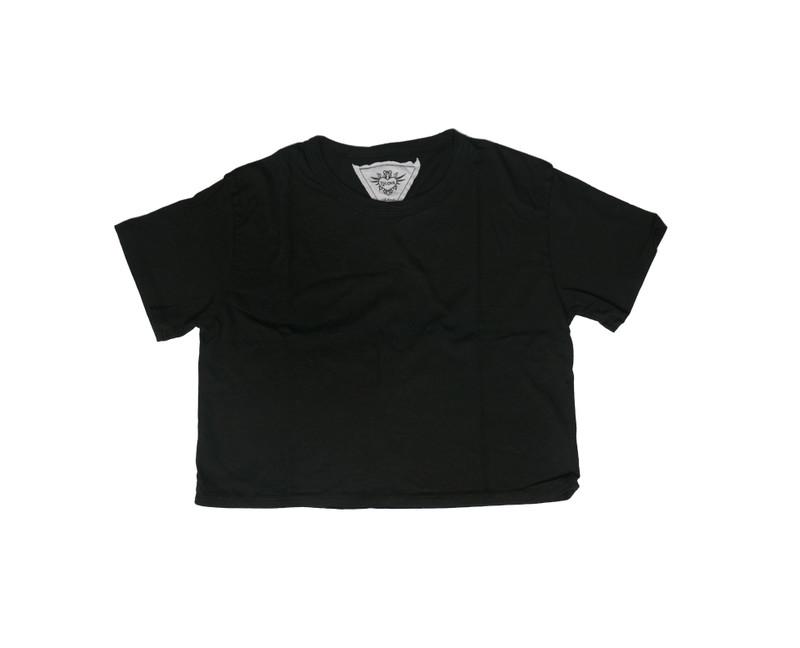 BLACK SHORT SLEEVE BOXY TEE