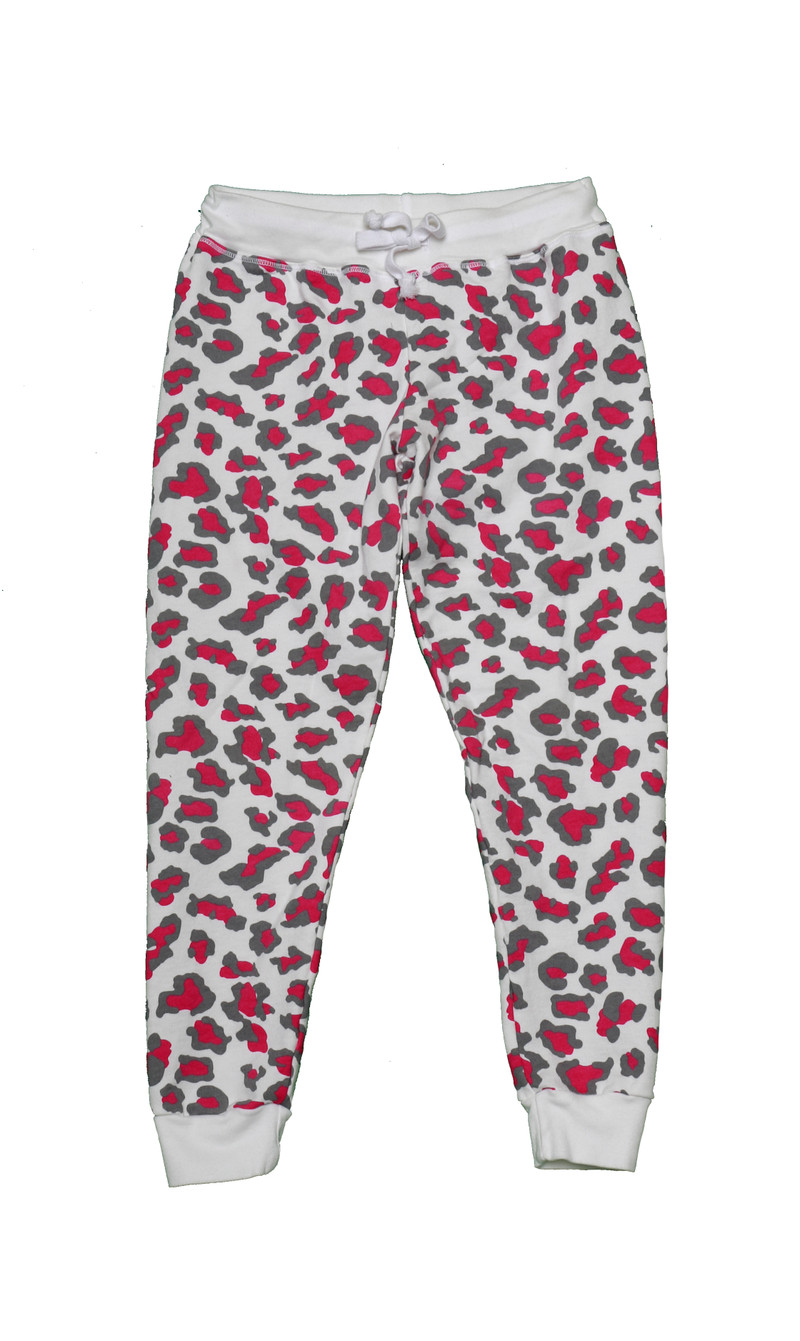 LEOPARD PRINT FITTED CONTRAST PANEL PANTS