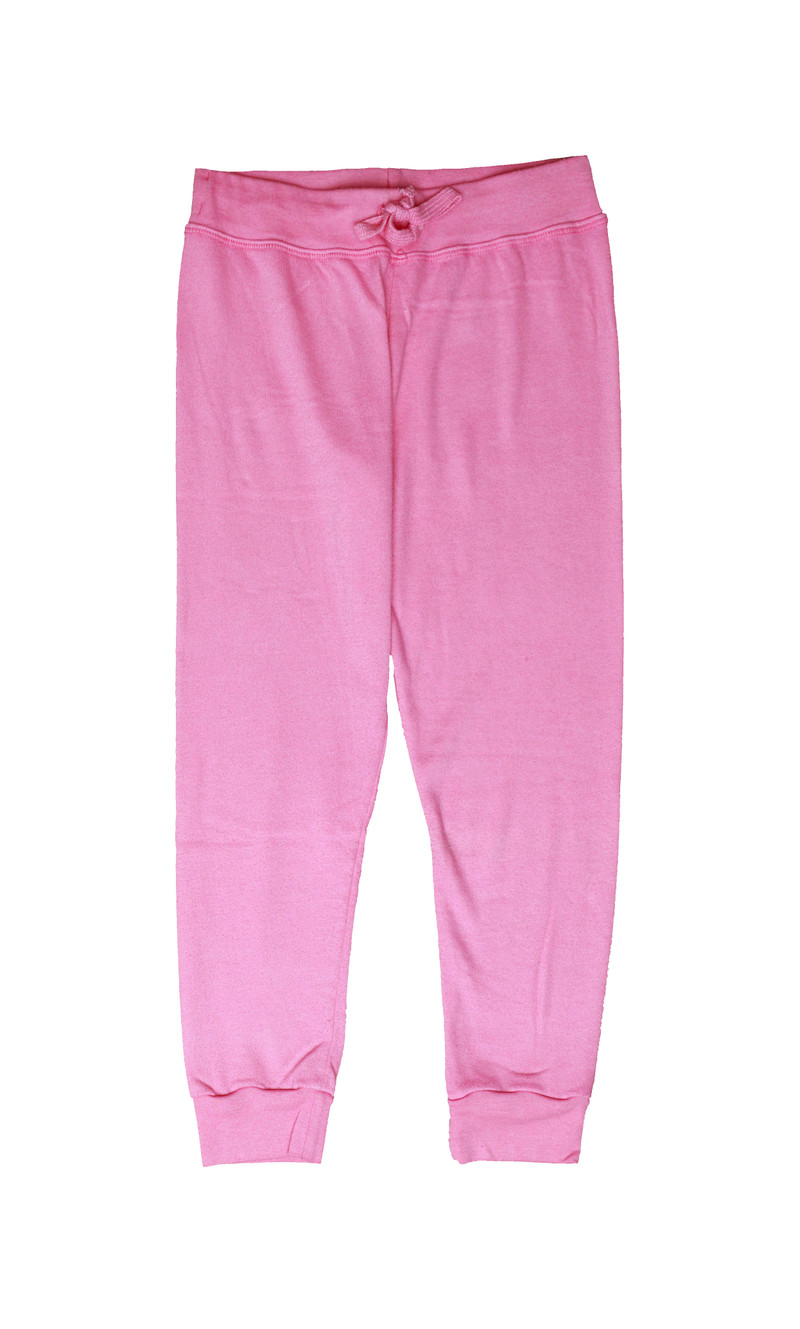HOT PINK CUFFED SWEATPANTS WITH BACK POCKET