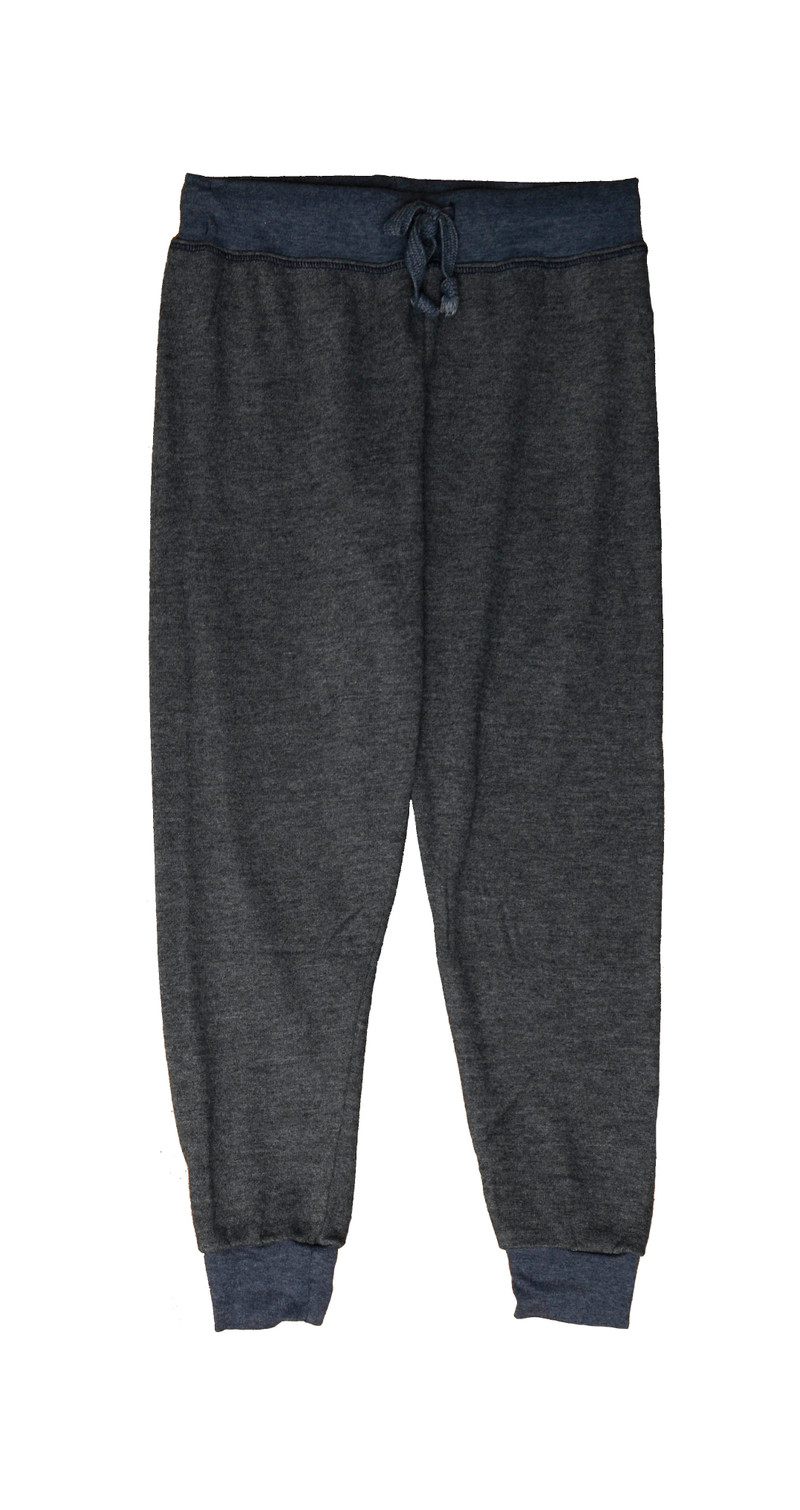 NAVY CUFFED SWEATPANTS WITH BACK POCKET