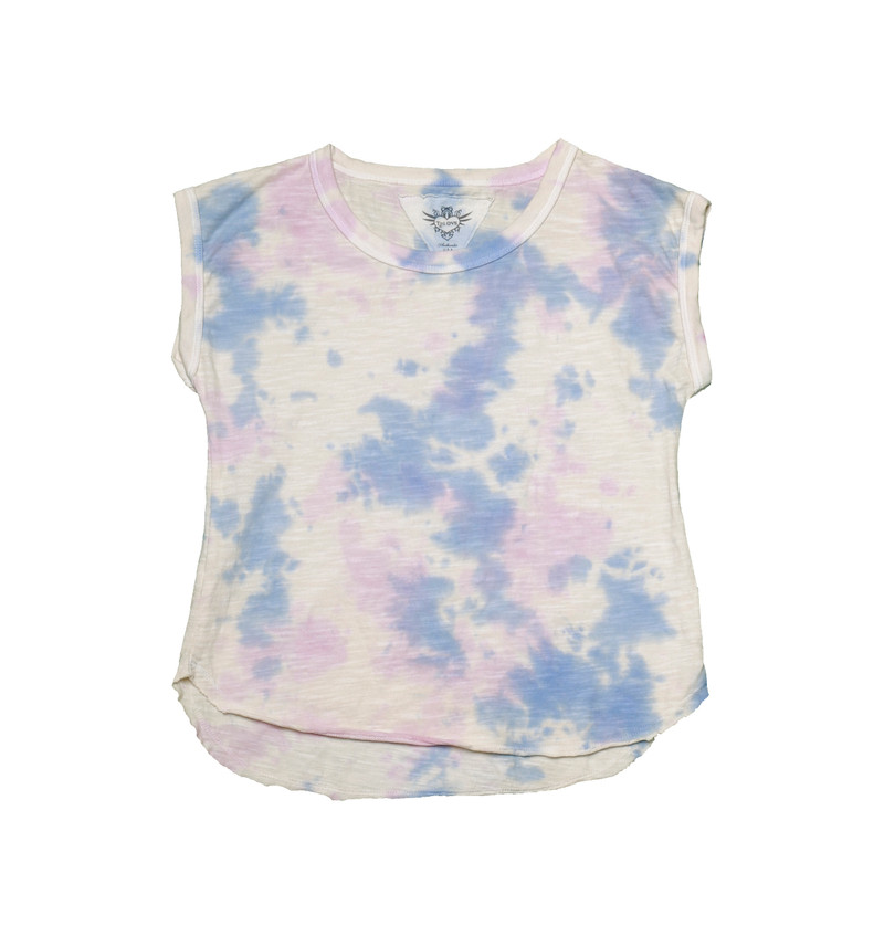 NBP (NATURAL BLUE PINK) JERSEY COTTON TIE DYE MUSCLE TEES