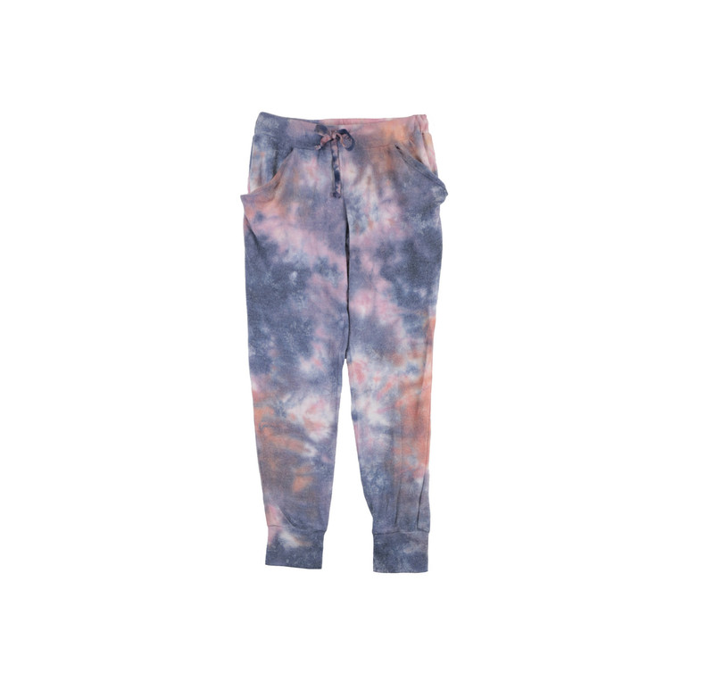 TIE DYE SWEATER BRUSH HACCI SLOUCHING PANTS