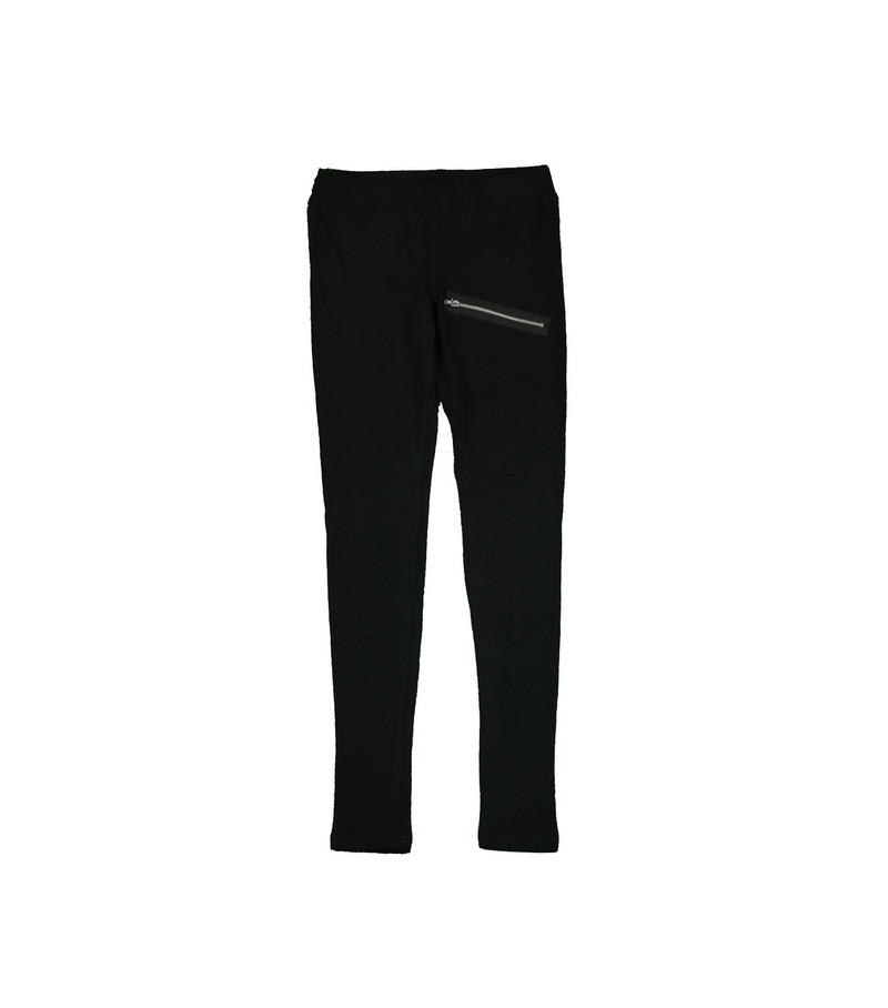 BLACK BRUSH HACCI LEGGINGS WITH ZIPPER DETAIL