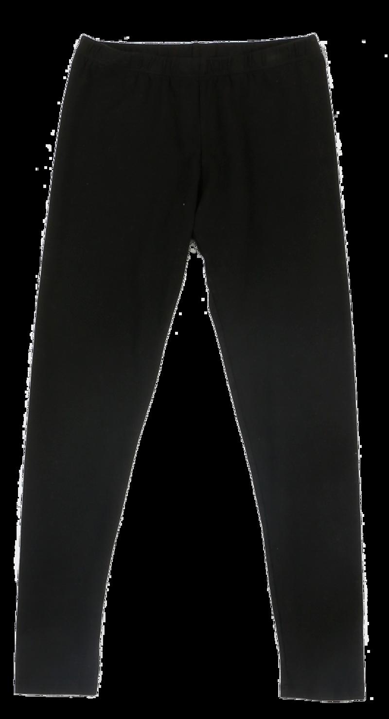 BLACK JERSEY MODAL LYCRA LONG LENGTH LEGGING