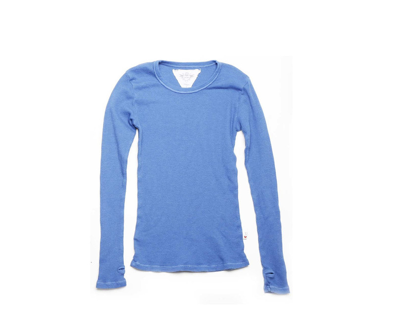 RIVER BLUE THERMAL MODAL LYCRA LONG SLEEVE CREW NECK WITH THUBHOLE