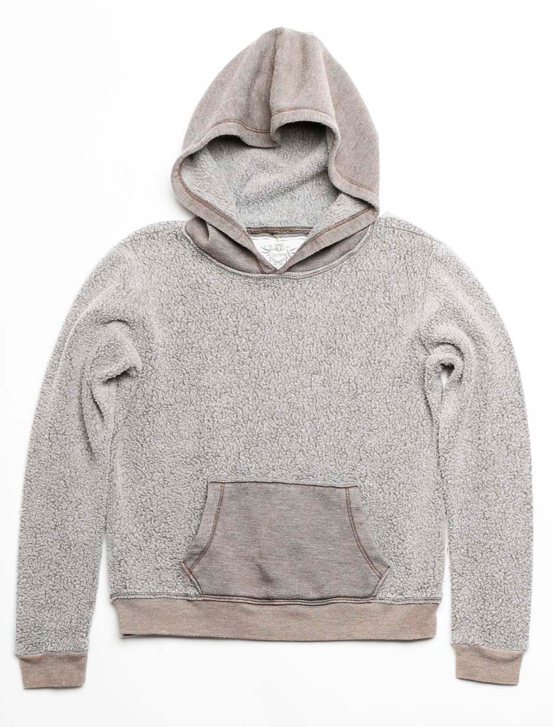 SHERPA FLEECE LONG SLEEVE REV HOODED PULLOVER
