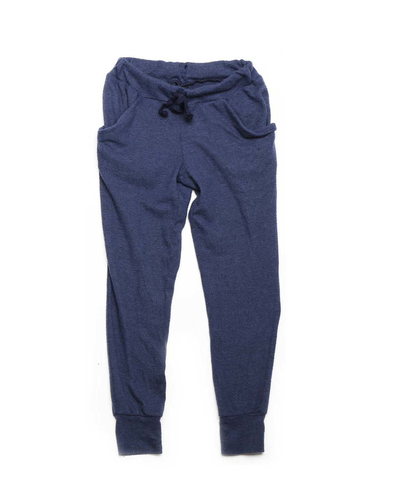 NAVY BRUSH HACCI SLOUCHING PANTS