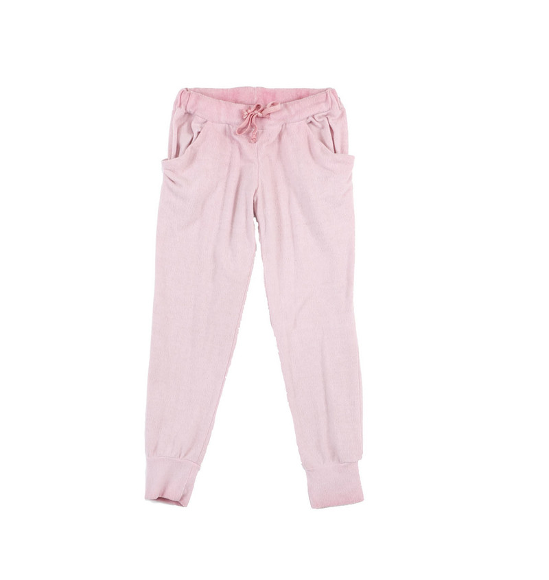 MAUVE BRUSH HACCI SLOUCHING PANTS