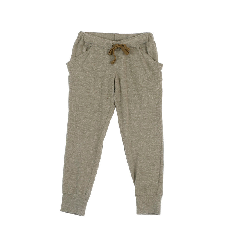 MED OLIVE BRUSH HACCI SLOUCHING PANTS