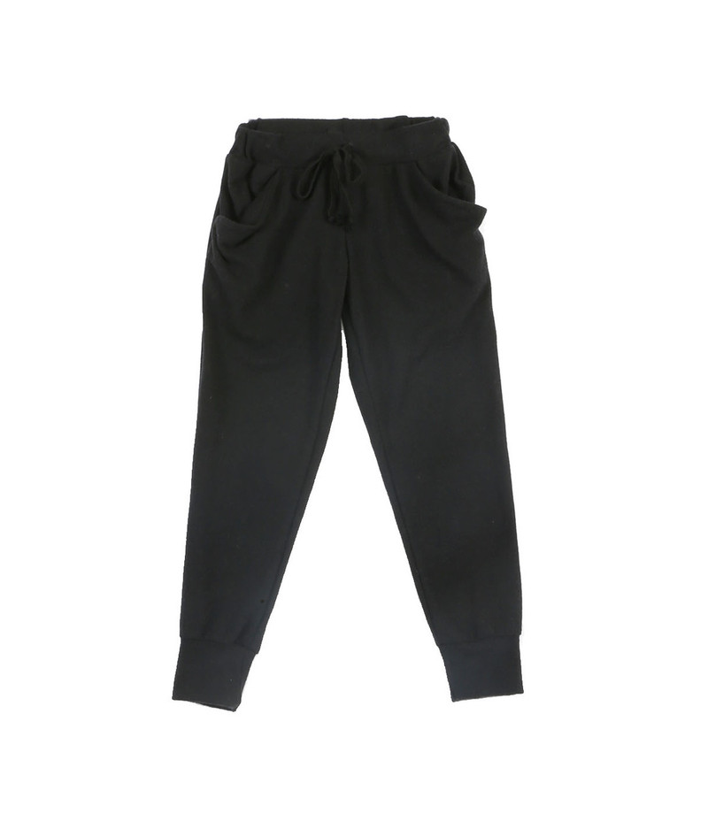 BLACK BRUSH HACCI SLOUCHING PANTS