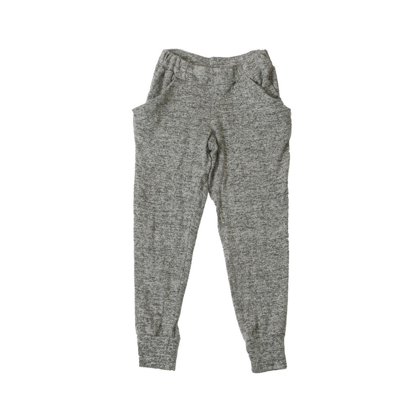 GREY HEATHER BRUSH HACCI SLOUCHING PANTS