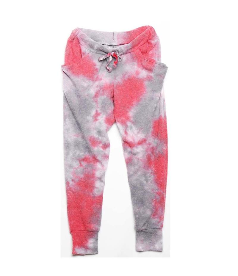 GIRLS SLOUCHING PANTS: TIE DYE