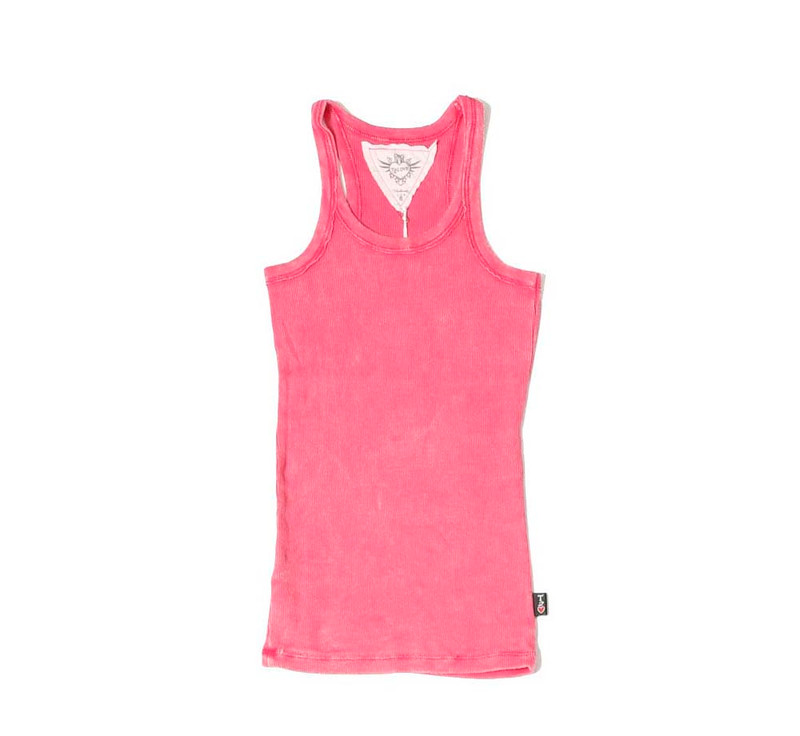 VIRTURE PINK VINTAGE WASH TANK TOP