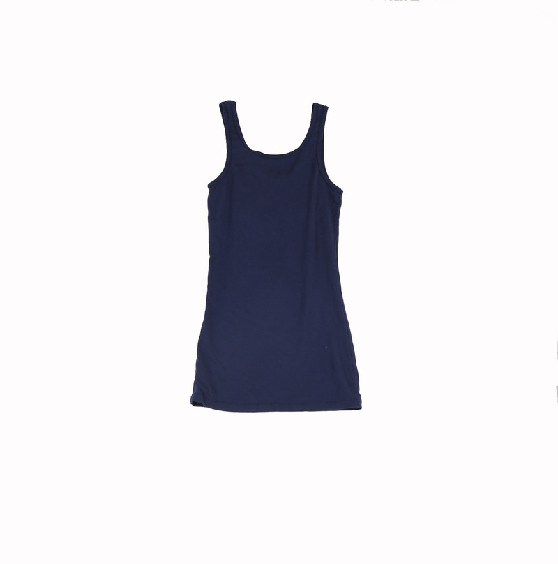 DARK NAVY JERSEY COTTON MODAL LYCRA LAYER TANK TOP